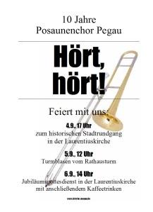 Plakat 10 Jahre Posaunenchor Pegau