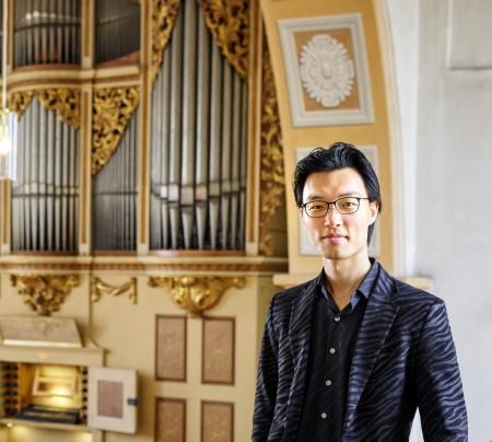 Lutherland, Marien Kirche in Rötha, Organist Song und Restauratorin